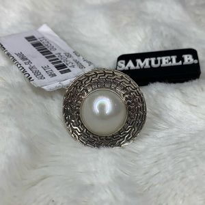 Samuel B. Silver Pearl Round Ring 💍NWT 💍Size 9